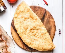 Чебурек с семгой и плавленным сыром