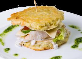 Драникобургер с куриным филе и беконом