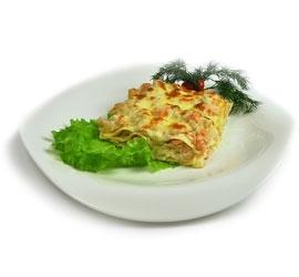 Лазанья с курицей и грибами в сливочном соусе
