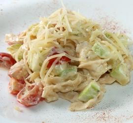 Тальятелле со сливочно-овощным соусом